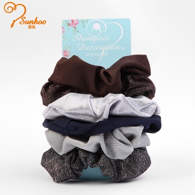Handmade soft satin girls hair scrunchie H-0012